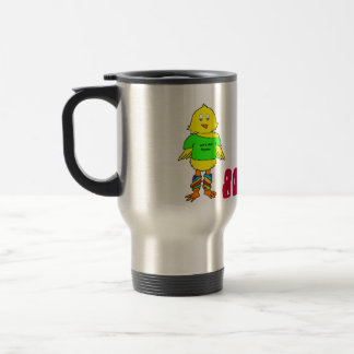 80's Chick Stainless Steel Travel Coffee Mug