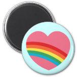 80s Chunky Rainbow Heart Magnet