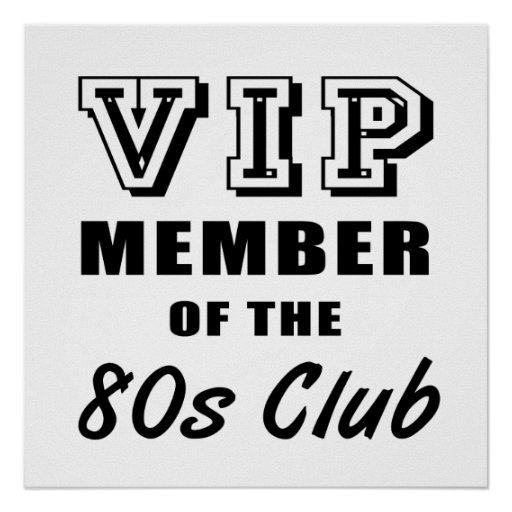 80's Club Birthday Print