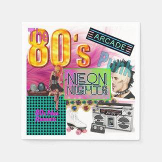 80s Collage Paper Napkin