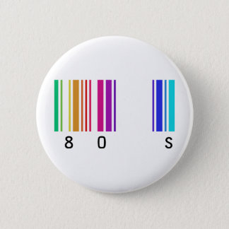 80s color design! pinback button