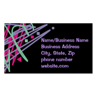 80s design eighties vintage splash medley art Double-Sided standard business cards (Pack of 100)