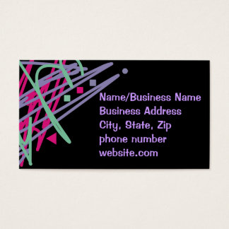 80s design eighties vintage splash medley art business card
