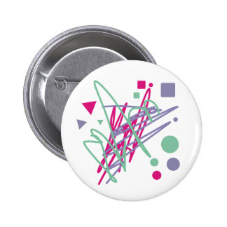 80s design eighties vintage splash medley art button
