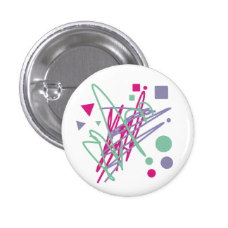 80s design eighties vintage splash medley art pinback button