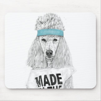 80s dog mouse pad