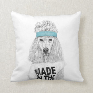 80s dog throw pillow