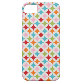 80s Eighties retro rainbow multi-color diamonds iPhone SE/5/5s Case