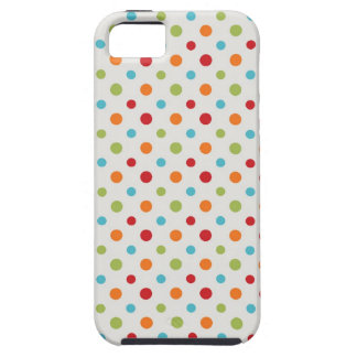 80s Eighties retro rainbow multi-color polka dots iPhone SE/5/5s Case