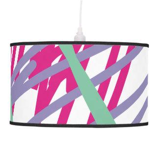 80s eighties vintage colors splash medley art girl ceiling lamp