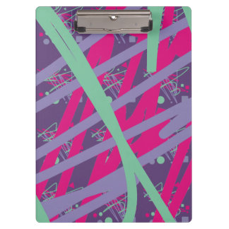 80s eighties vintage colors splash medley art girl clipboard