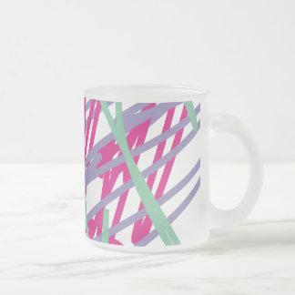 80s eighties vintage colors splash medley art girl frosted glass coffee mug