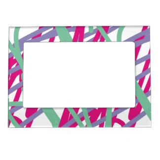 80s eighties vintage colors splash medley art girl magnetic photo frame