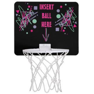 80s eighties vintage colors splash medley art girl mini basketball hoop