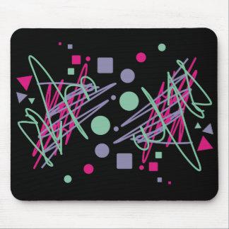 80s eighties vintage colors splash medley art girl mouse pad
