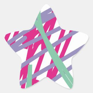 80s eighties vintage colors splash medley art girl star sticker