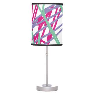 80s eighties vintage colors splash medley art girl table lamp