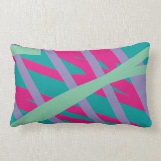 80s eighties vintage colors splash medley art girl throw pillow
