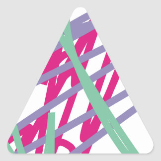 80s eighties vintage colors splash medley art girl triangle sticker