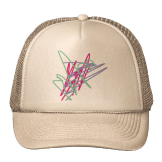 80s eighties vintage colors splash medley art girl trucker hat