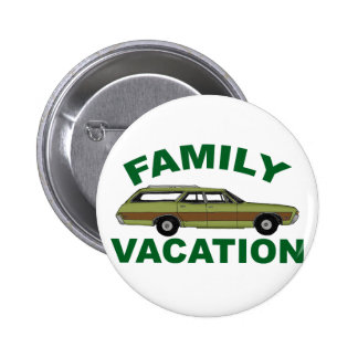 80s Family Vacation Pinback Button