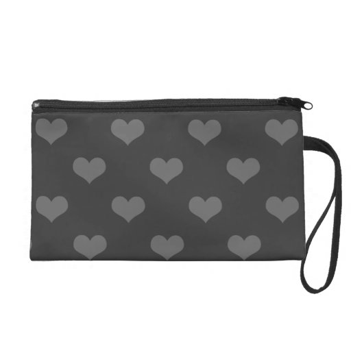 80s flannel gray hearts emo girly goth pattern wristlet clutch