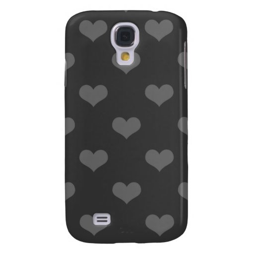 80s flannel gray hearts emo girly goth pattern galaxy s4 cases