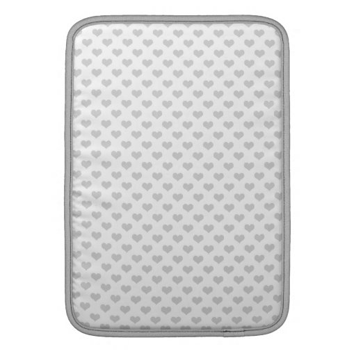 80s flannel gray hearts emo girly grunge pattern MacBook air sleeve