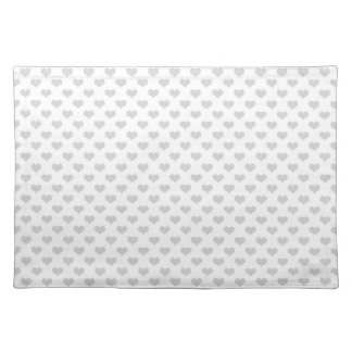 80s flannel gray hearts emo girly grunge pattern placemat