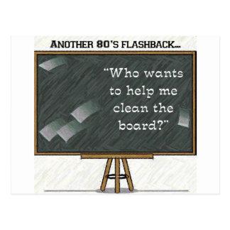 80s Flashback - Chalkboard Postcard
