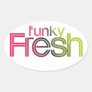 80s Funky Fresh Oval Sticker