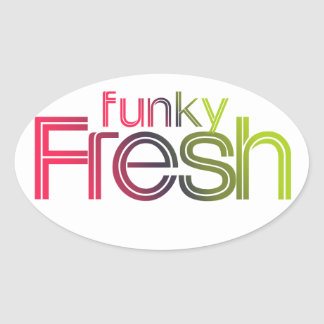 80s Funky Fresh Oval Stickers