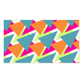 80's Geometric Pattern Double-Sided Standard Business Cards (Pack Of 100)