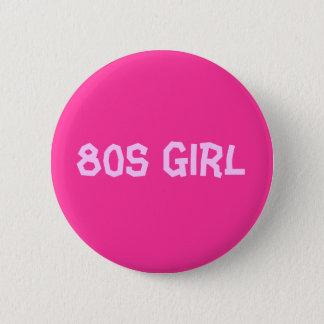 80s Girl Button