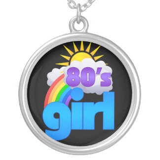 80s Girl Round Pendant Necklace