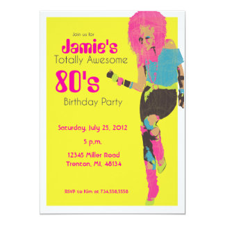 80's Glam Girl Card