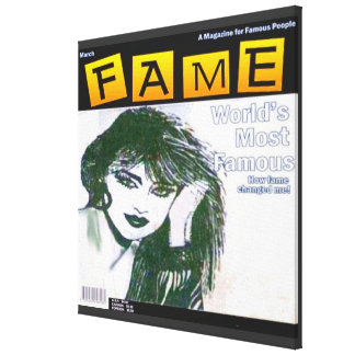 80's Glamour Girl Canvas Print