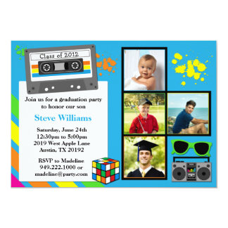80's Graduation Party Invitation Class of 2012