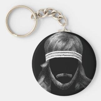 80's hairstyle keychain