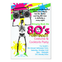 80s Halloween Party Invitation