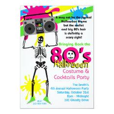 80s Halloween Party Invitation at Zazzle