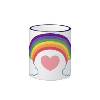 80's Heart & Rainbow - mug