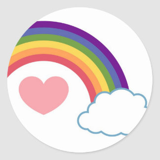 80's Heart & Rainbow - stickers