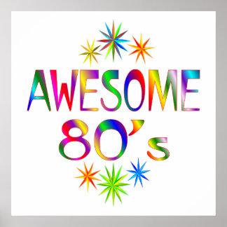80s impresionante póster