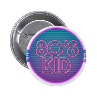 80's Kid Purple Button