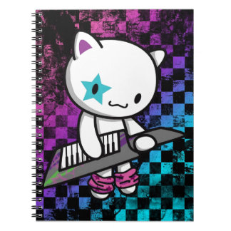 80s Kitty Spiral Note Book