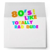 80's Like Totally Rad Dude Neon Envelope