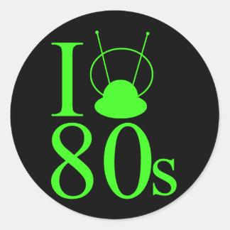 80s Love Classic Round Sticker