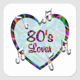 80s Lover Square Stickers