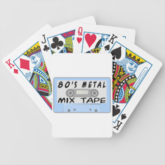80s Metal Mix Tape Cassette Bicycle Playing Cards